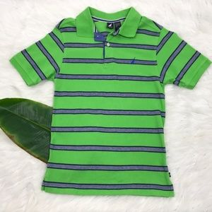 Nautica Polo Shirt Boys Medium Green Blue